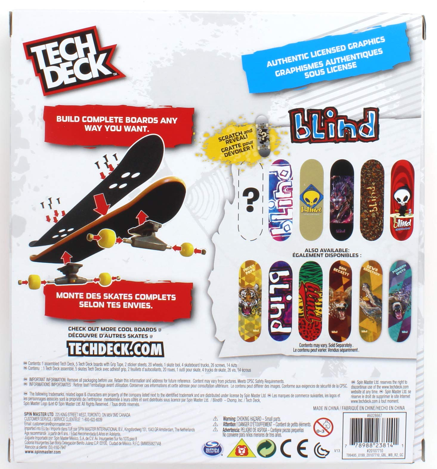 Tech Deck Blind Skateboards Sk8shop Bonus Pack with 6 Fingerboards by Tech Deck Blind (Image #2)