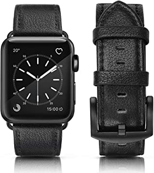 MCD Correa para Apple Watch 44mm Series 4 y 42mm Series 3 Series 2 Sereis 1. Correa de Piel Cuero Genuino: Amazon.es: Electrónica