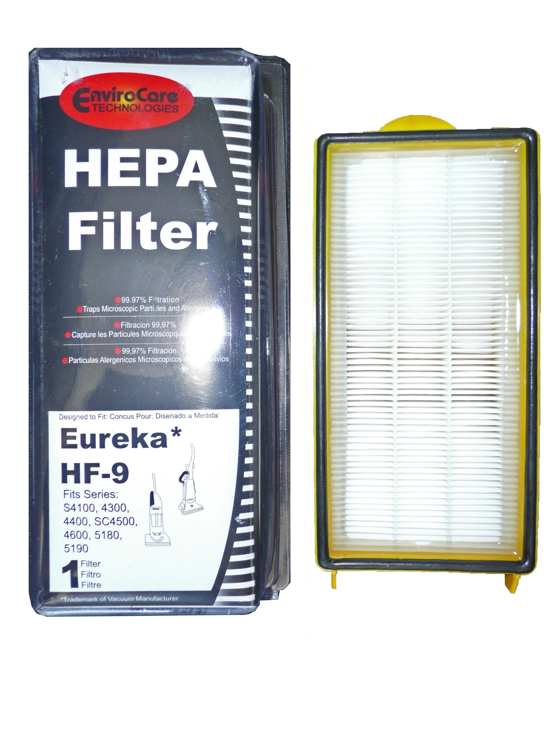 (30) 60285 Eureka HF9 Hepa Pleated Vacuum Filter, Bagless Cyclonic, Heavy Duty Upright, Self Propelled, Cleaner & Cyclonic, Limited Edition, Victory ACSA, Cleaner, Cyclonic, Hepa, Powerline Limited, Whirlwind, Boss, Smart Vac, Sanitaire Commercial Vacuum