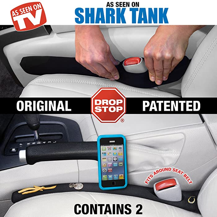 best birthday present for boyfriend, Drop Stop - The Original Patented Car Seat Gap Filler - Set of 2 (AS SEEN ON SHARK TANK)