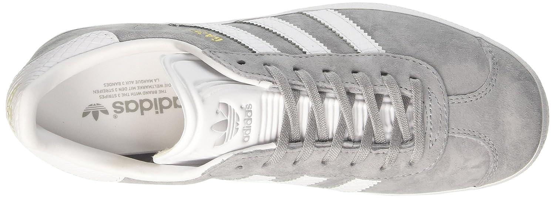 Adidas Damen Gazelle W Weiß/Gold Sneaker Grau (Mid Grau /Ftwr Weiß/Gold W Met.) 60c835