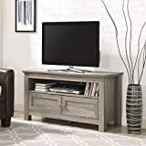 New 44 Inch Wide Television Stand with Doors-Driftwood Finish