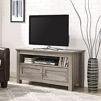 Amazon Com New 44 Inch Wide Television Stand With Doors Driftwood