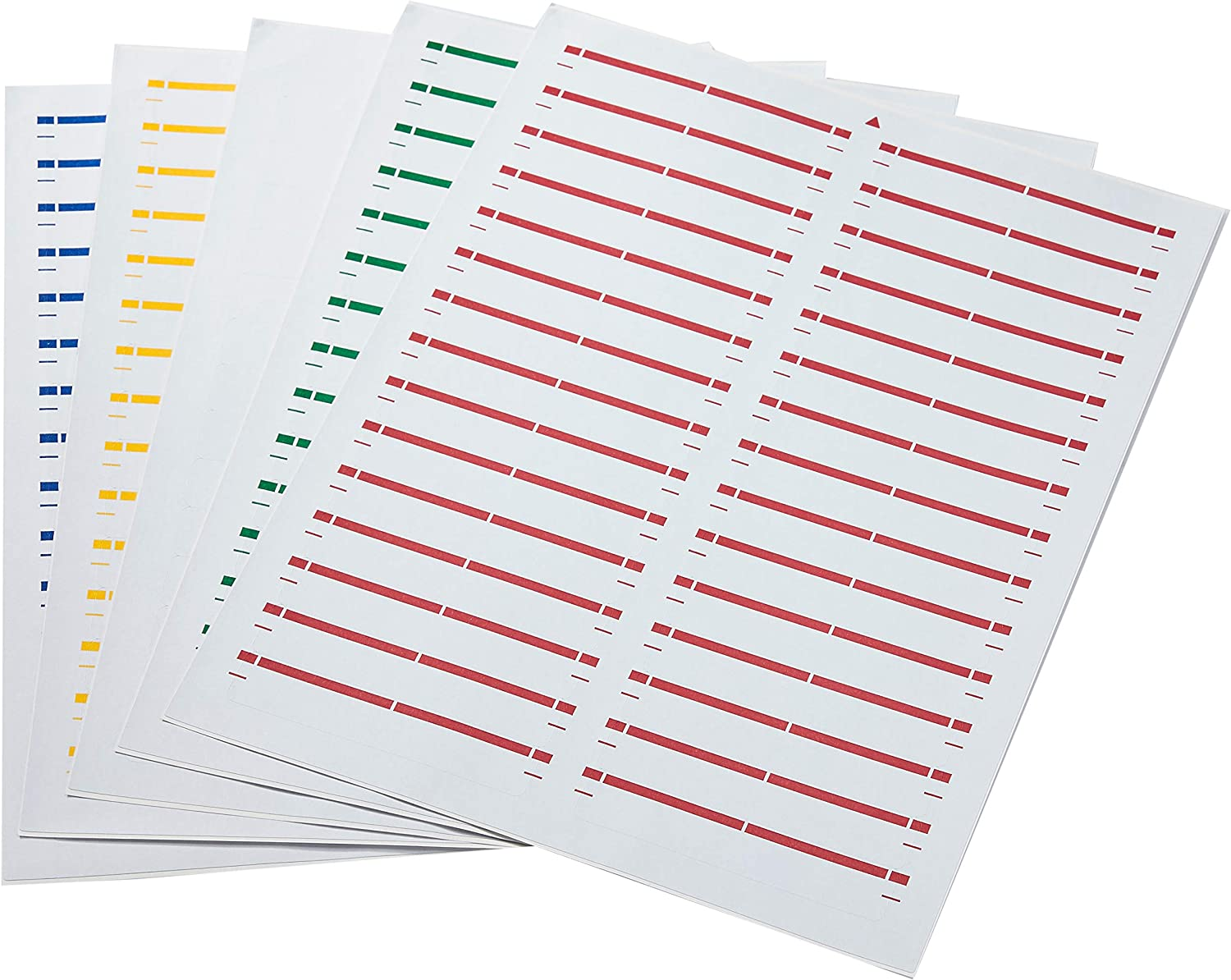 AmazonBasics File Folder Labels in Assorted Colors for Laser and Inkjet Printers, 0.67 x 3.43 Inches, 750-Pack