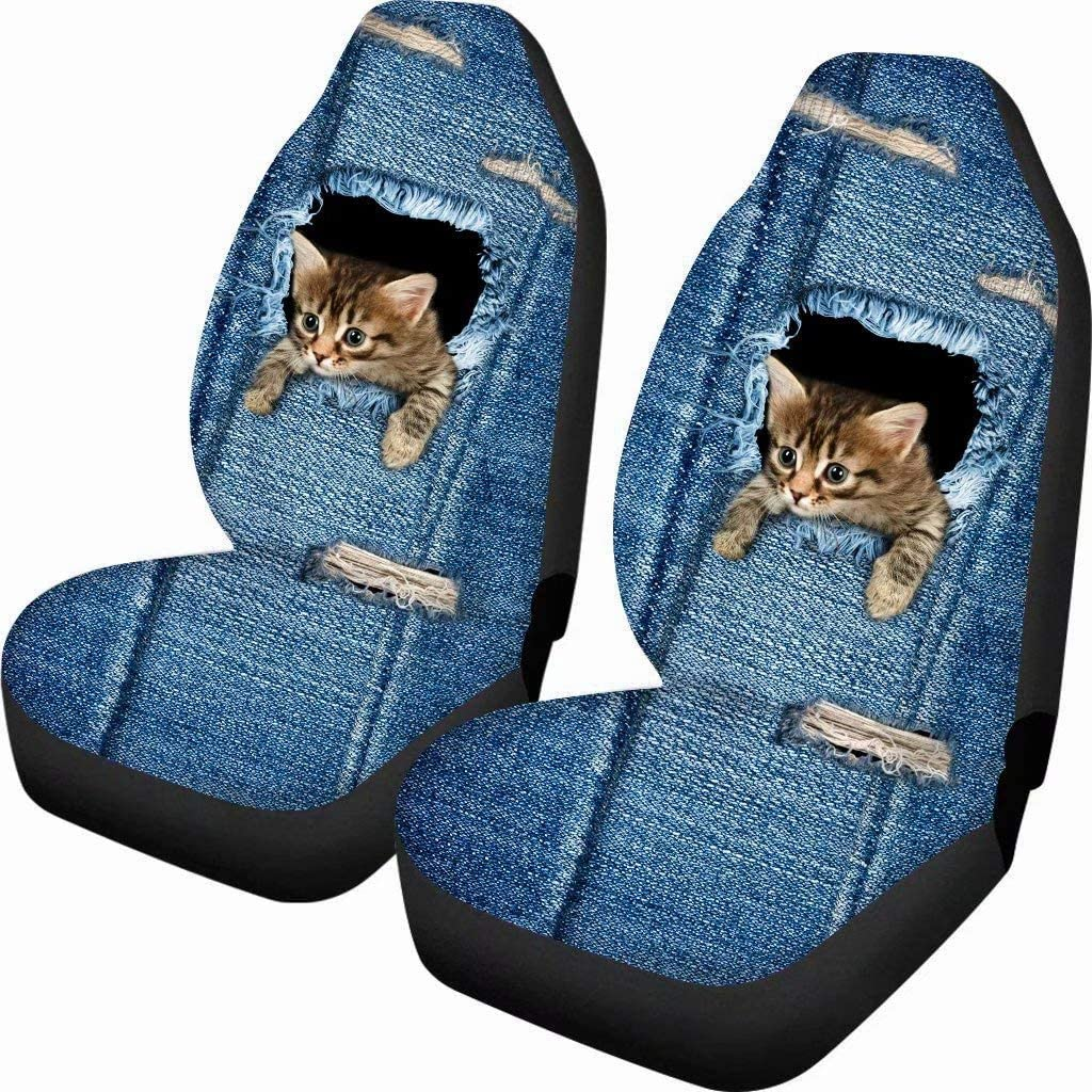 chaqlin Car Seat Covers Blue Sea Animal Shark Printed Driver Seat Protector Case Cover Nonslip Fit for Most Car SUV Trucks Blue