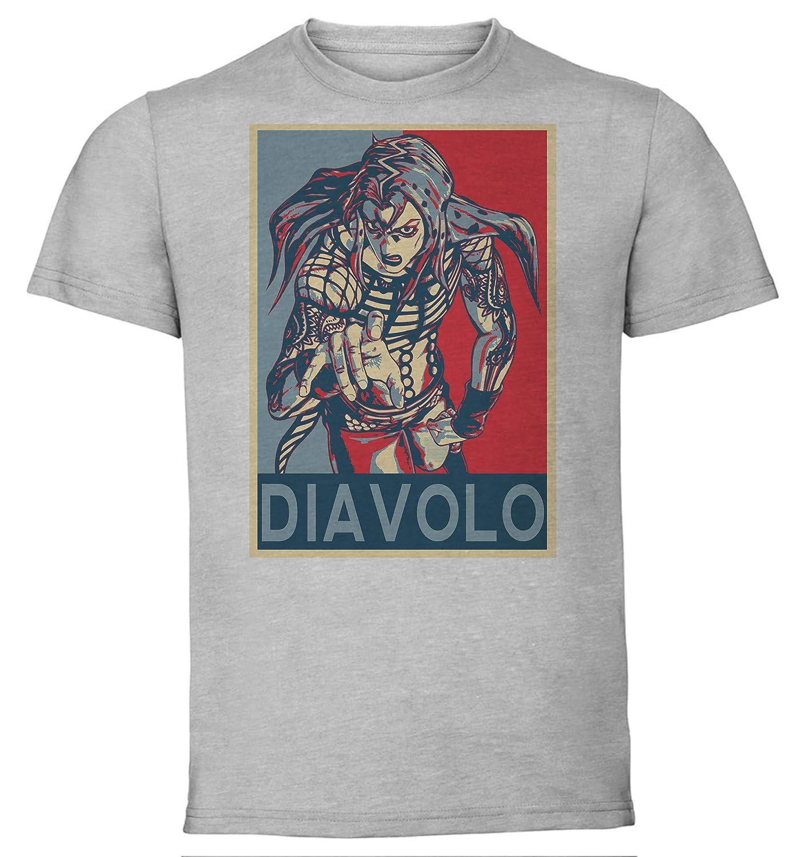 Diavolo JoJos Bizarre Adventure Vento Aureo Instabuy T-Shirt Unisex Maglietta Grigia Propaganda