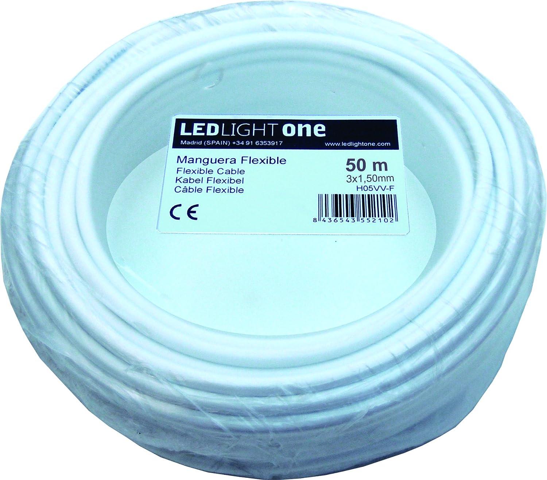 50/m Noir Led Light One H05VV-F C/âble flexible 3/x 1,5/mm