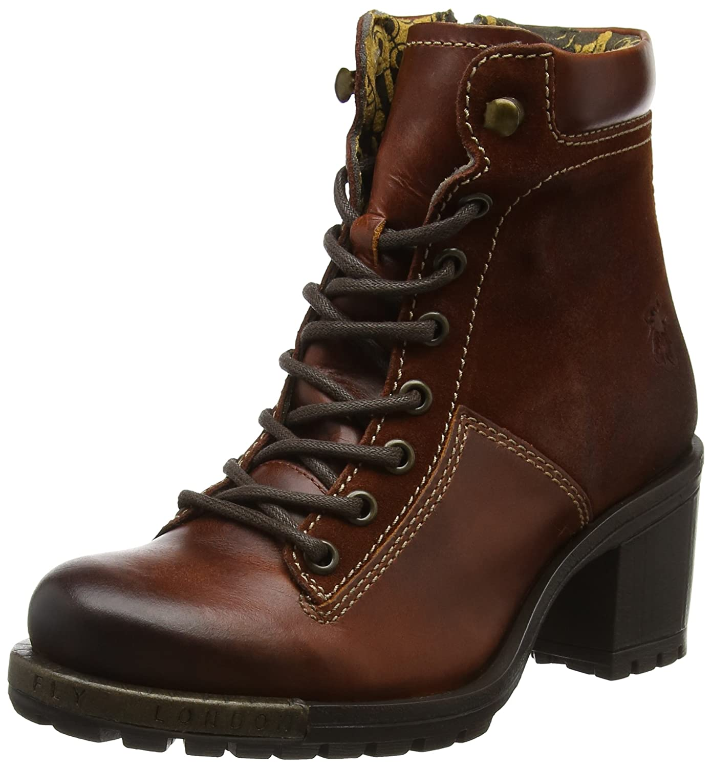 Fly London Leal689fly, Botas para Mujer41 EU|Marrón (Brick)