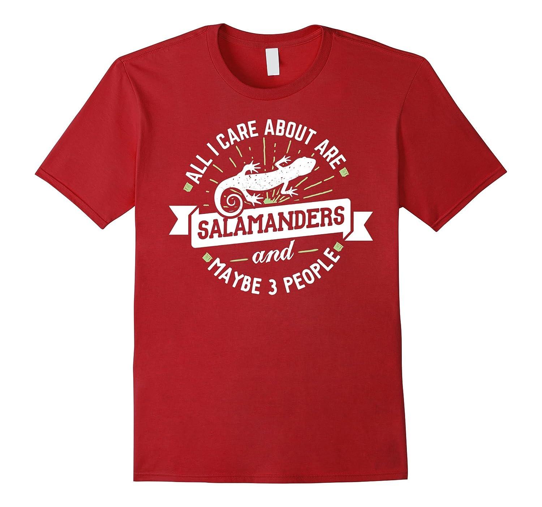 I Love Heart Salamanders Ladies T-Shirt