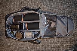 Very sturdy backpack, keeps safe my photography stuff.