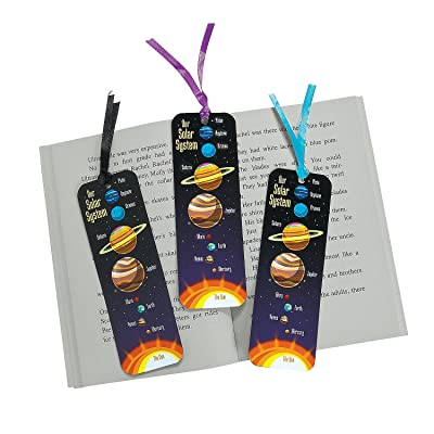 Fun Express Laminated Solar System Bookmarks - 48 Pieces - Educational and Learning Activities for Kids: Toys & Games
