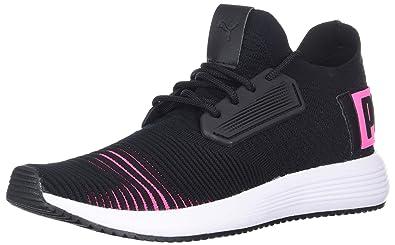PUMA unisex-kids Uprise Color Shift Sneaker Black-Knockout Pink White 4661720d8