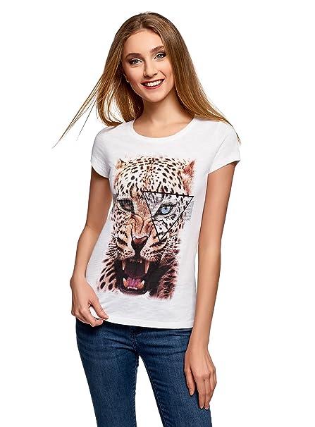 Ultra Shirt Con itAbbigliamento Donna Oodji T AnimalierAmazon Stampa shQtdBrCx