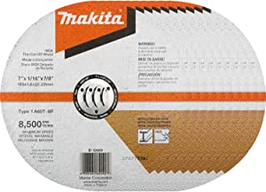 "Makita B-12669-10 7"" x 1/16"" x 7/8"" INOX Thin Cut-Off Wheel, 60 Grit, 10/Pk"