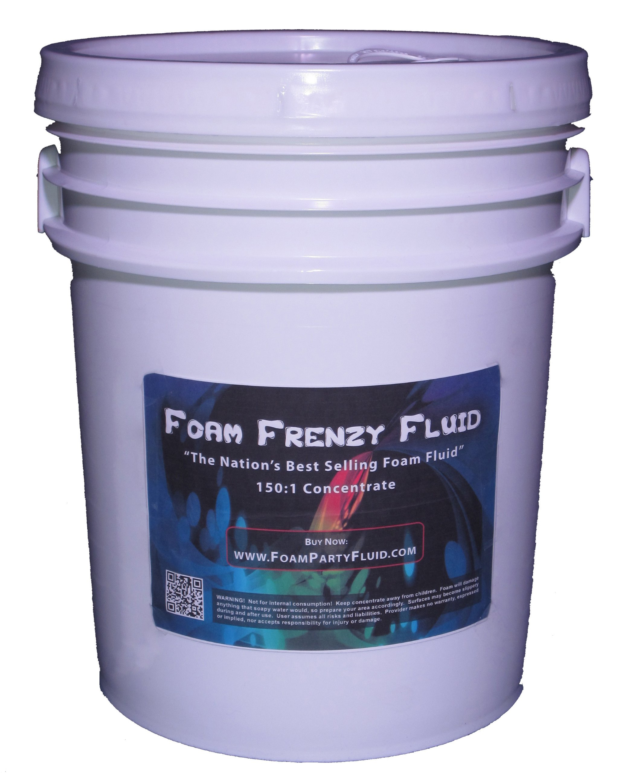 5 Gallons of Foam Frenzy Fluid (Foam Party) 150:1 Concentrate