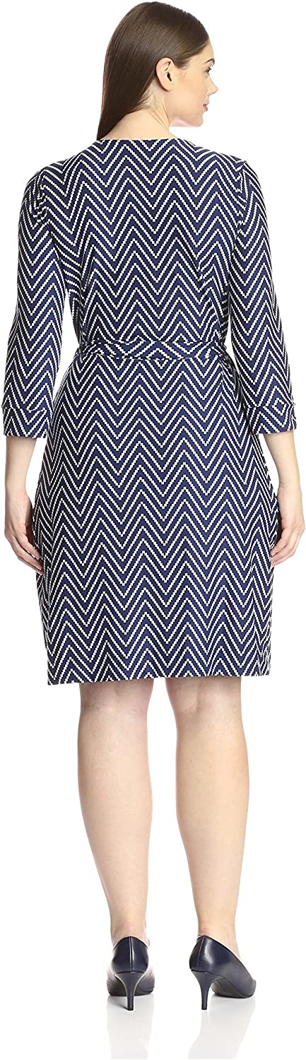 SOCIETY NEW YORK Plus Womens Wrap Dress