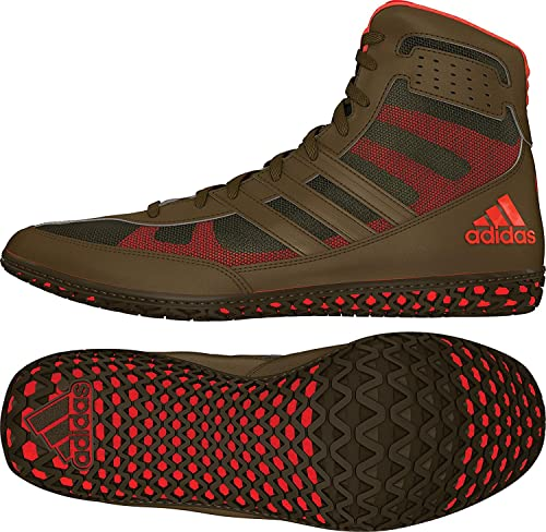cheap for discount ffaa1 7de3e adidas Mat Wizard David Taylor Edition Mens Wrestling Shoes, Olive  GreenOrangeOlive