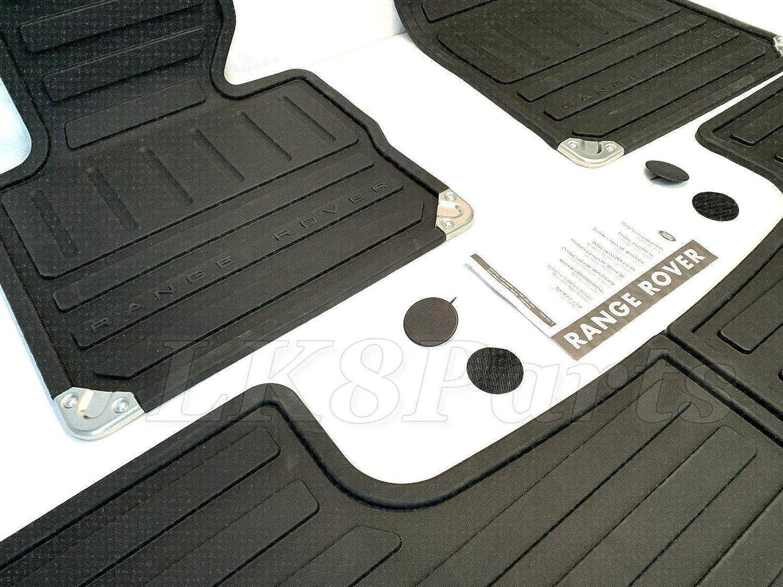 Genuine Land Rover EAH500330PMA Black Rubber Floor Mats for the Range Rover Full Size