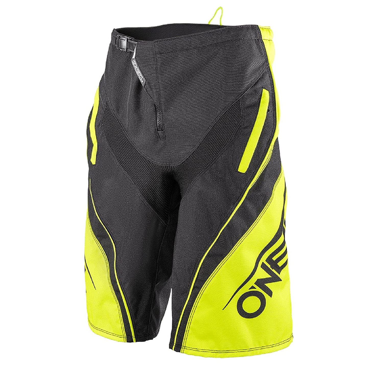 1078/ O Neal Element FR Blocker Nero Giallo Fluo Hi Viz Pantaloncini MTB DH AM MX Enduro Offroad /4
