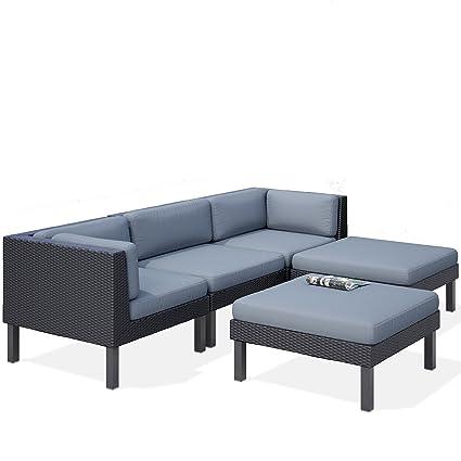 Amazon.com: corliving ppo-804-z Oakland – Juego de sofá con ...