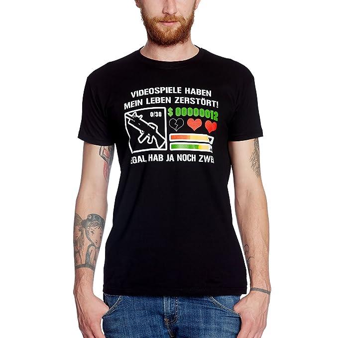 Vídeo Juegos tienen Mi Vida Destruido Camiseta de hombre Gamer Fan Camiseta Algodón - S: Amazon.es: Ropa y accesorios