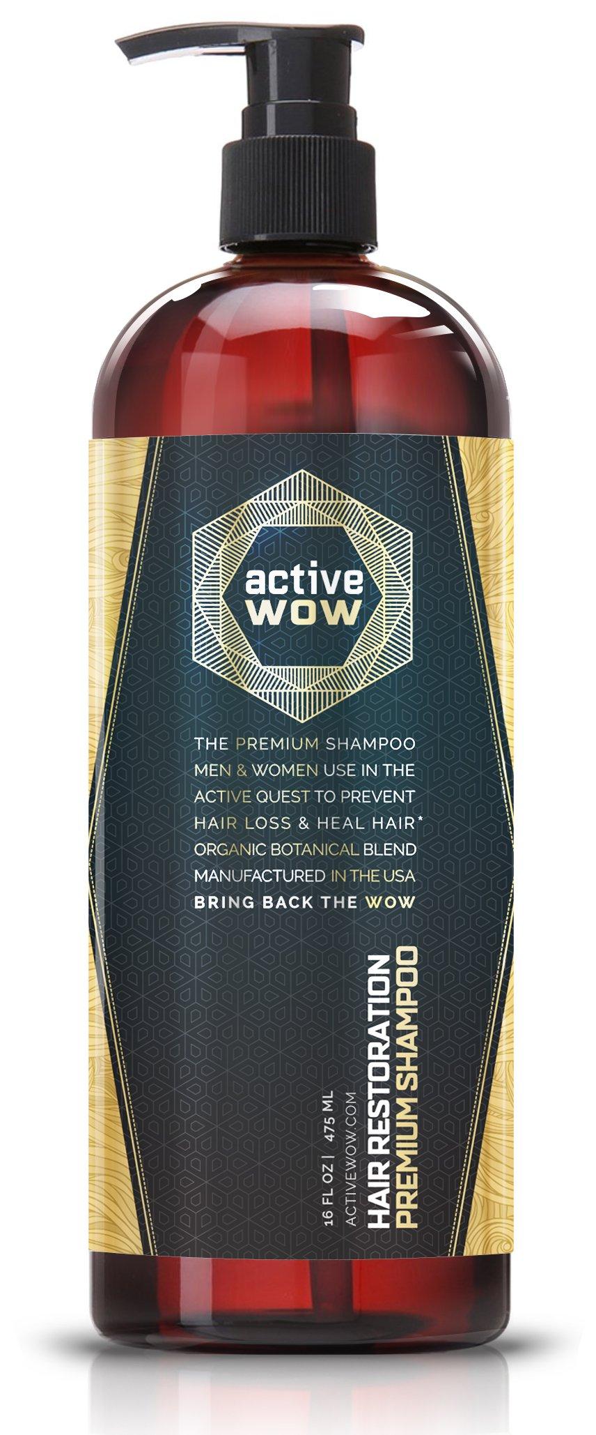 Active Wow Argan Oil & Organic Botanicals Anti Hair-Loss Shampoo - 16 Fluid Oz