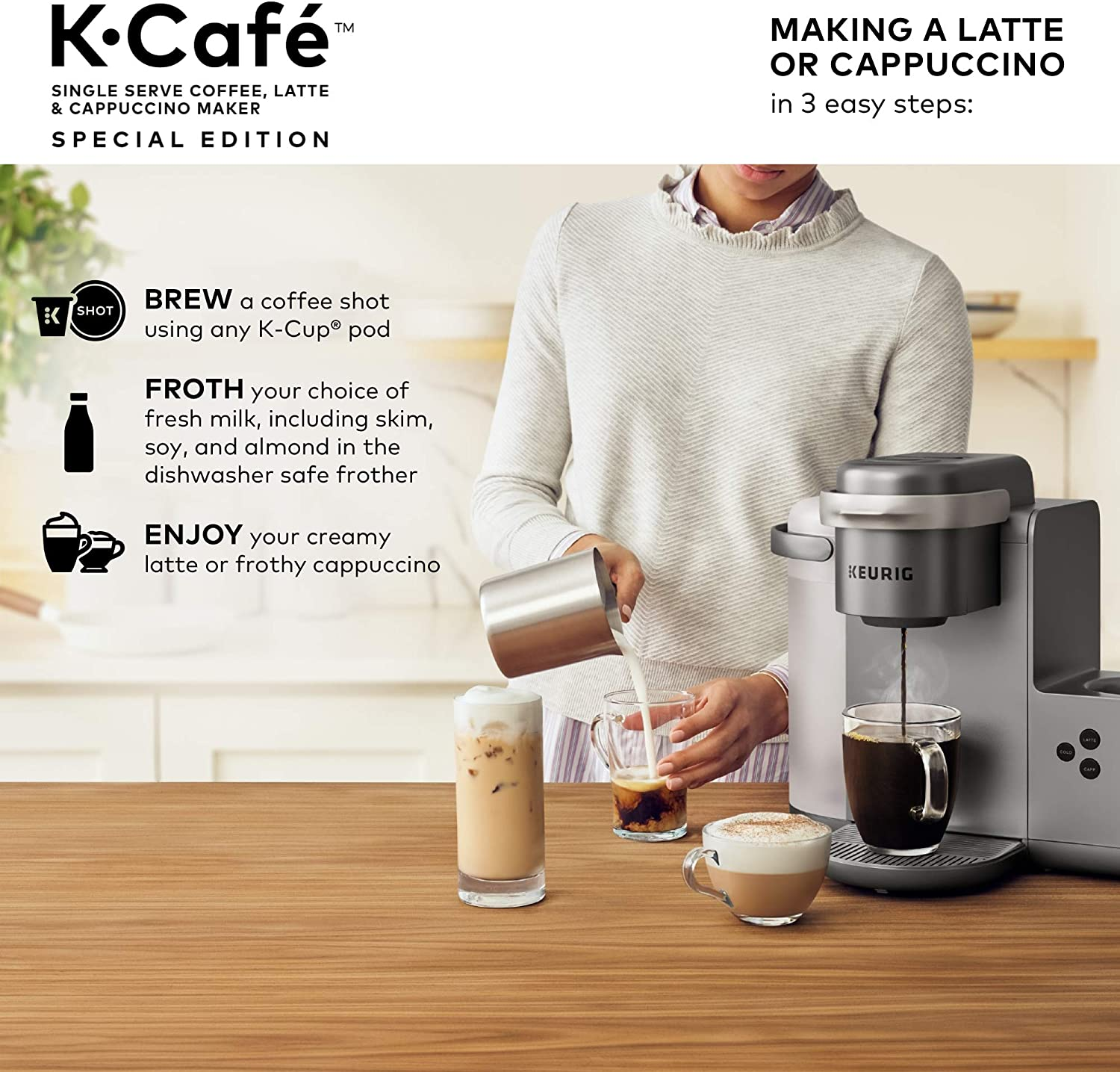 Keurig K-Café Special Edition Coffee Maker, Single Serve K
