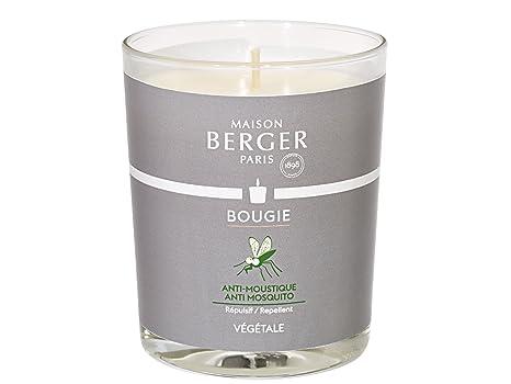 Maison Berger Kerze Anti-Mücke mit sanftem Seifenduft 180g Brenndauer ca. 30h 6359 + 1 Stück HEVO Feuerzeug Gratis