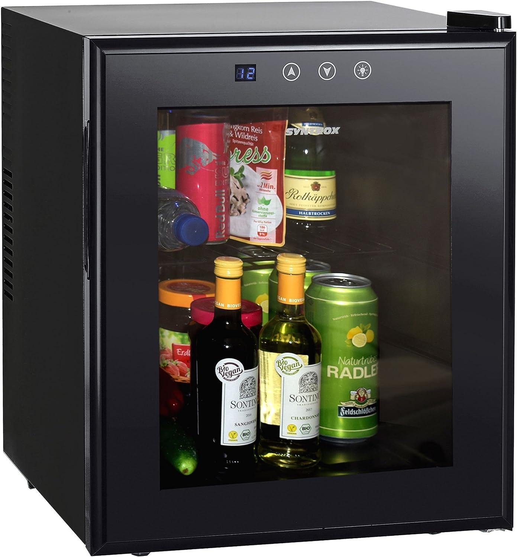 SYNTROX 50 Liter Mini Kühlschrank Warmhaltebox Kühlbox auf Rollen 12V 220V