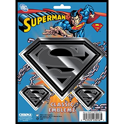 Chroma Graphics 3016 Classic Emblemz 3 Piece Superman Decal: Automotive