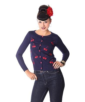 SugarShock LexXa 50er retro Kirschen Rockabilly Cardigan Cherry Pin Up Weste
