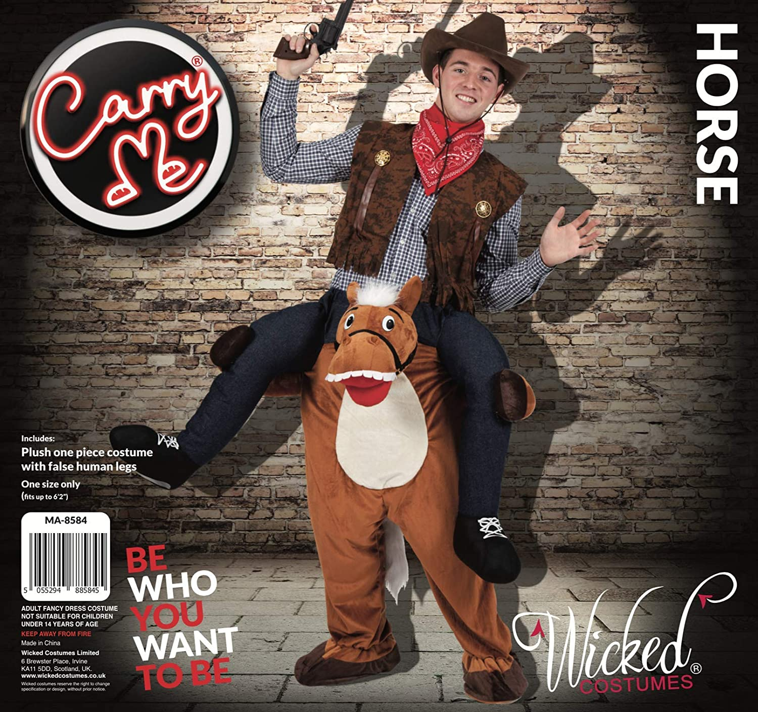 042a66f53 Carry Me® Horse Adult Costume One Size: Amazon.co.uk: Toys & Games