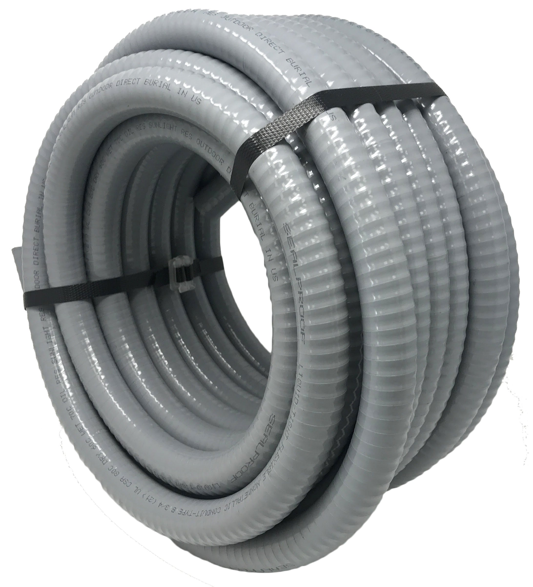 Sealproof 3/4-Inch Flexible Non-metallic Liquid-Tight Electrical Conduit Type B, UL Listed, 3/4'' Dia, 50 Feet