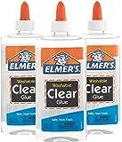 Elmer's Liquid School Glue, Clear, Washable