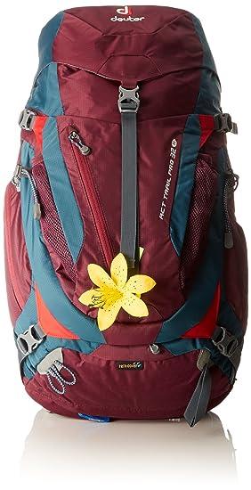 Deuter ACT Trail PRO 32 SL Mochila, Unisex adultos, Rojo (Blackberry/Arctic): Amazon.es: Deportes y aire libre