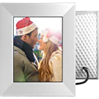 NIXPLAY Iris Digital Photo Frame WiFi 8 inch W08E Silver. Share Photos via Mobile App or E-Mail. HD Display Electronic Smart Picture Frame. Sound Sensor for a loved one