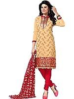 Fabwomen Women's Cotton Dress Material