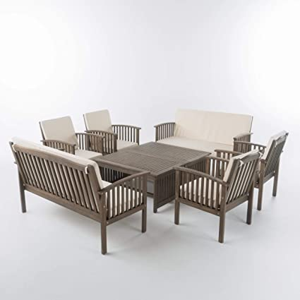 Peachy Amazon Com Christopher Knight Home Beckley Patio Furniture Caraccident5 Cool Chair Designs And Ideas Caraccident5Info