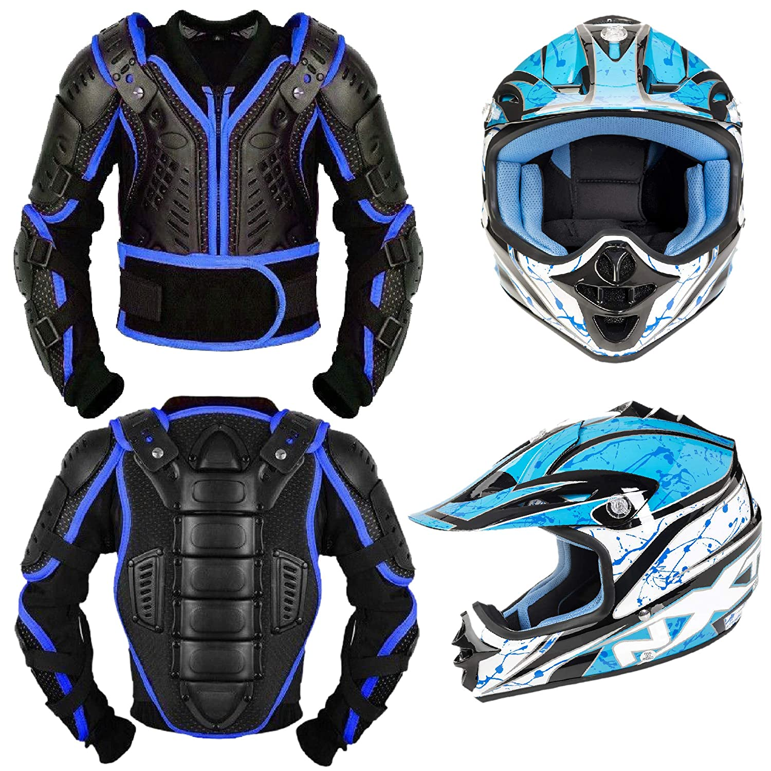 3-4 Years Leopard CUB Kids Motocross CAMO Suit Children Motorbike Motorcycle Race Clothing ATV Karting Suit Overall 1PC Black XS