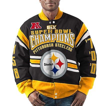 c03f55a2 Pittsburgh Steelers Gladiator 6X Championship Cotton Twill Jacket (Medium)