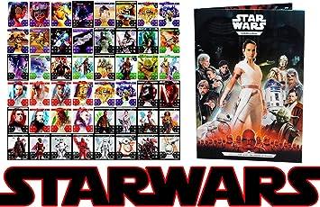 Starwars alle 48 Holo Glitzer Hologramme Komplett 2019 Star Wars Die komplette Saga Der Aufstieg Skywalkers