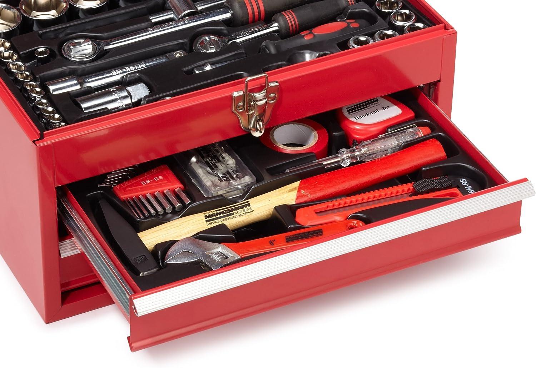 Mannesmann M29066 - Caja de herramientas equipada con 155 piezas: Amazon.es: Bricolaje y herramientas
