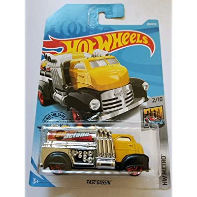 Hot Wheels 2020 Hw Metro - Fast Gassin' (Yellow) 190/250: Toys & Games