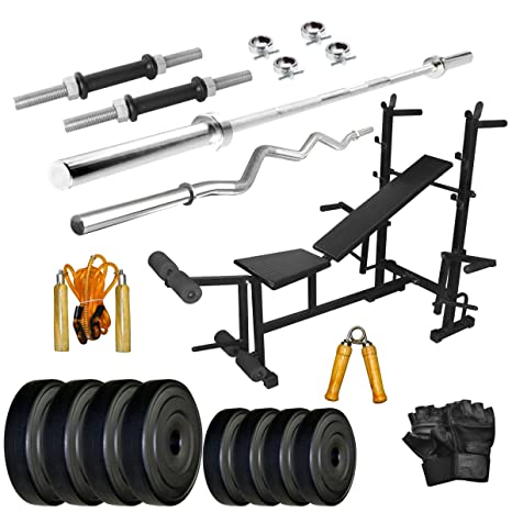 Livestrong kg pvc weight with in bench home gym combo