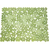 InterDesign Blumz Large Sink Mat, Green