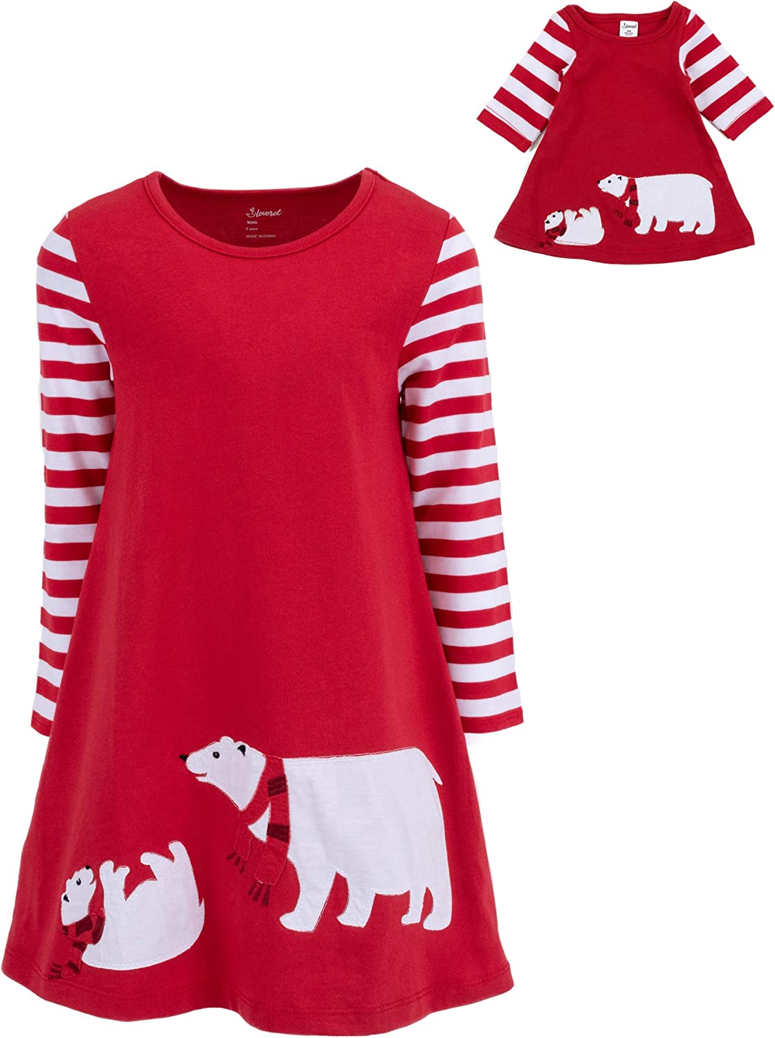 Leveret Kids & Toddler Dress Matching Doll & Girls Dress 100% Cotton Variety of Styles (Size 2-14 Years)