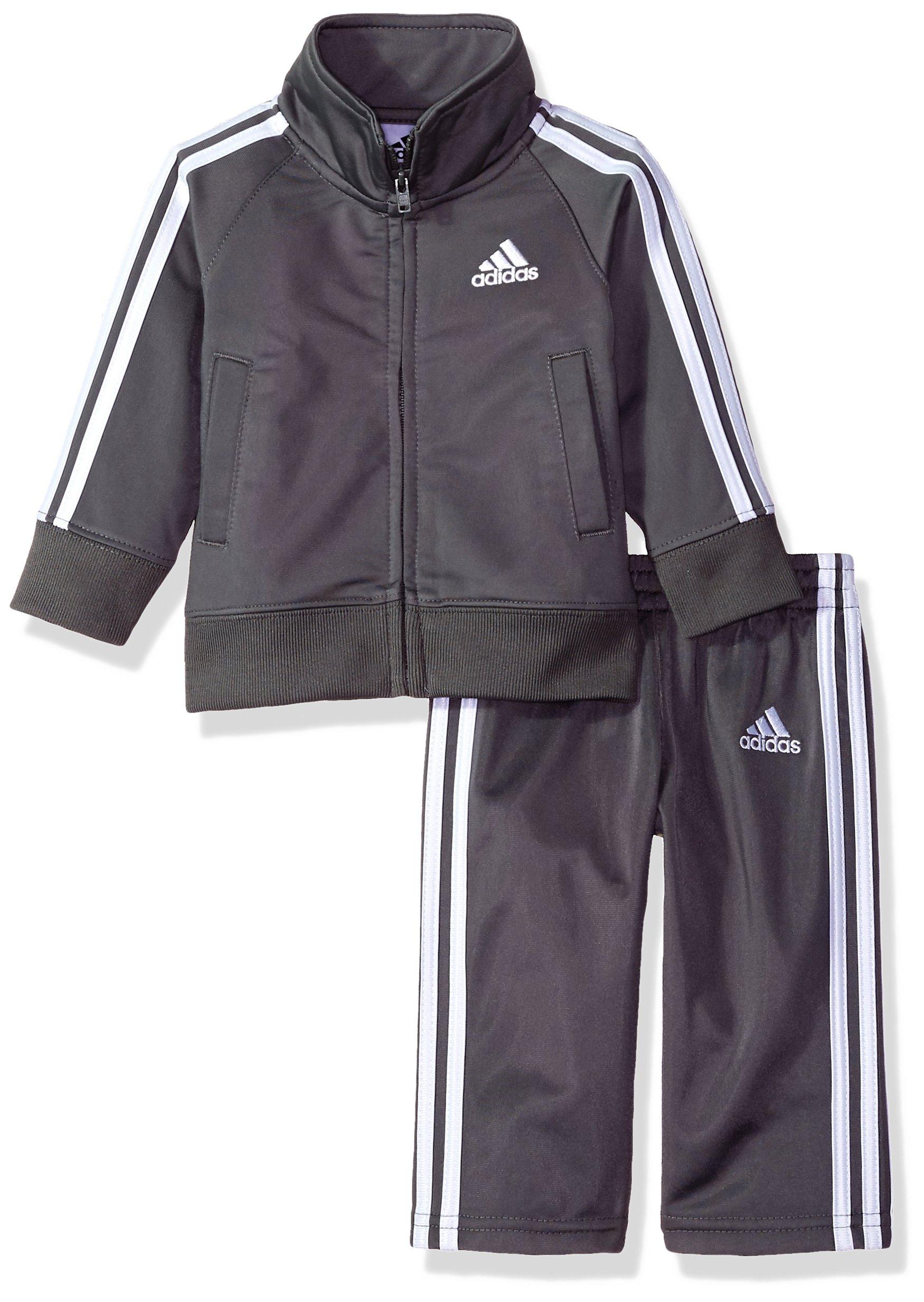 adidas Boys' Baby Tricot Jacket and Pant Set, Grey Five Adi 18M
