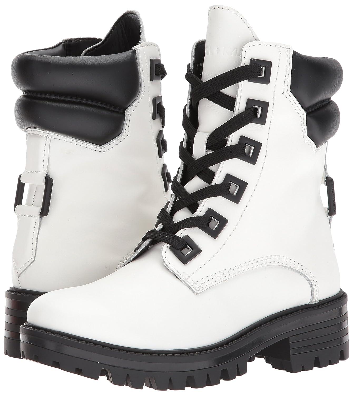 KENDALL + KYLIE Women's East Combat Boot B071KX3C3F 9.5 B(M) US|White