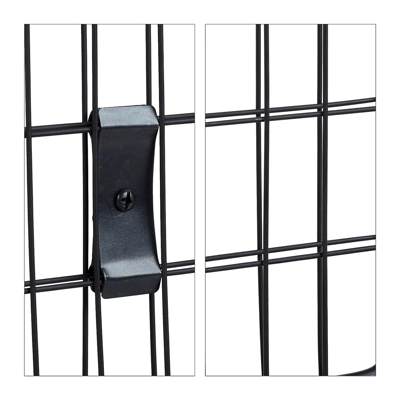 schwarz Metall max Relaxdays Kaminschutzgitter rund Funkenschutz Kamin /& Ofen Schutzgitter f/ür Kinder 160 cm breit