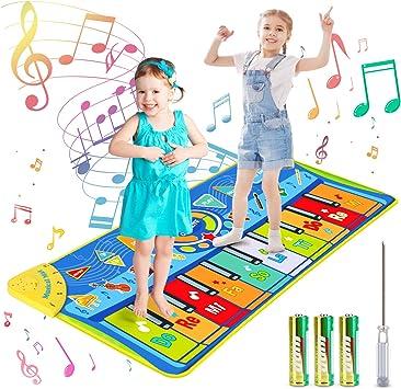 joylink Alfombra de Piano, Alfombra Musical Teclado Alfombra Musical para Niños Alfombra Musical de Teclado 10 Teclas y 8 Instrumentos de Animales ...